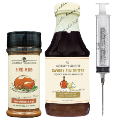 rum butter and bird rub turkey marinade kit